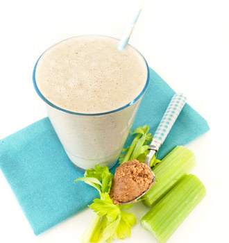 Celery Peanut Butter Smoothie