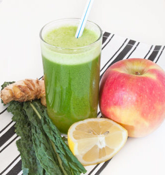 Kale Apple Lemon Ginger Juice
